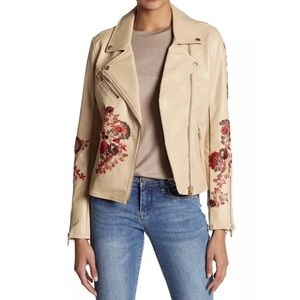 NWT Blank NYC Faux Leather Moro Jacket Tan L